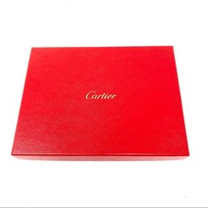 Cartier red signature stationary box 6.5x 8.5